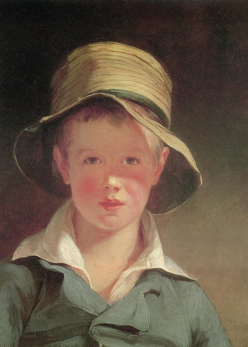 Thomas Sully Greeting Card featuring the painting The Torn Hat by Thomas Sully