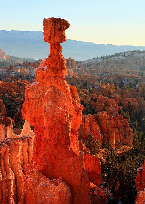 Bryce Greeting Card featuring the photograph Thor's Hammer by Pierre Leclerc Photography