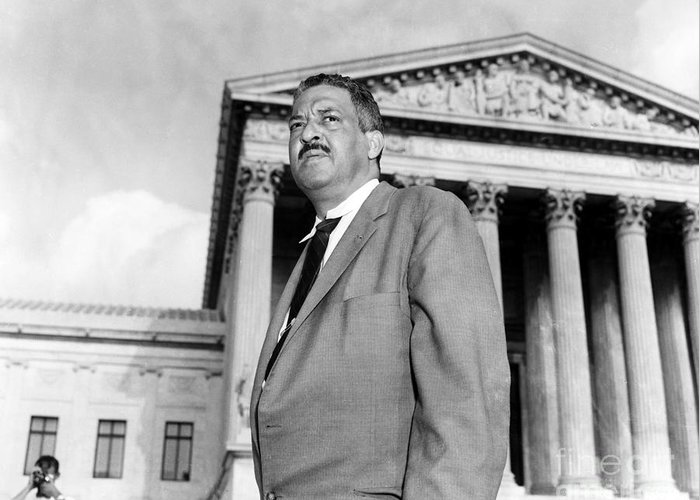20th Century Greeting Card featuring the photograph Thurgood Marshall by Granger