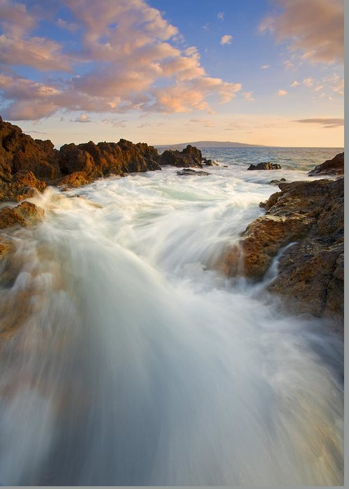 Surge Greeting Card featuring the photograph Tidal Surge by Mike Dawson