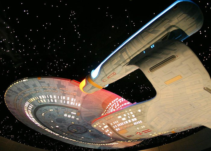Spaceship Greeting Card featuring the photograph To Boldly Go by Kristin Elmquist