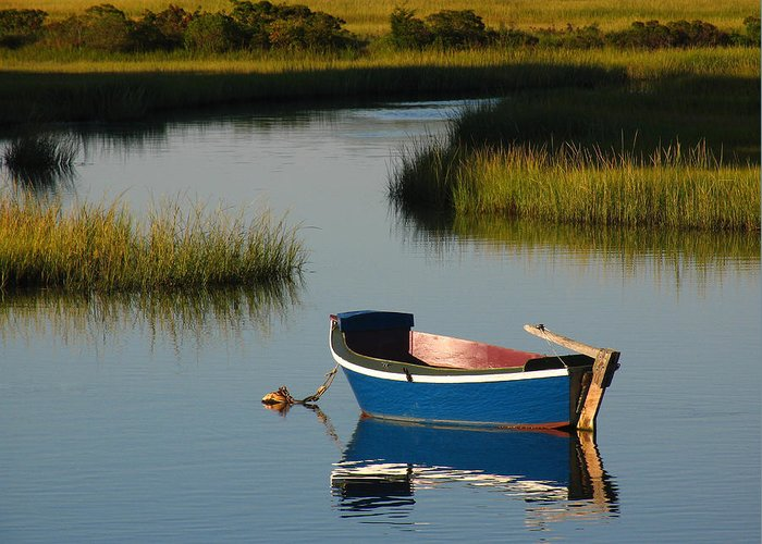 Solitude Greeting Card featuring the photograph Tranquil Cape Cod Photography by Juergen Roth