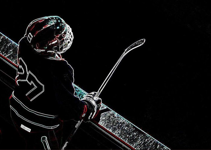 Tron Greeting Card featuring the photograph Tron Hockey - 1 by Tya Kottler