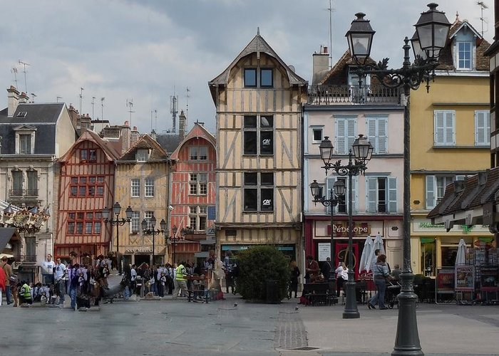 Troyes Greeting Card featuring the photograph Troyes France by Marilyn Dunlap