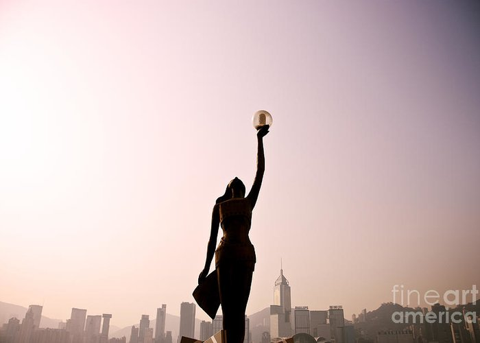 Alongside Greeting Card featuring the photograph Tsim Sha Tsui K by Ray Laskowitz - Printscapes