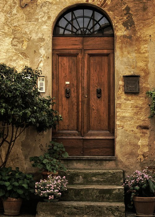 Tuscan Greeting Card featuring the photograph Tuscan Entrance by Andrew Soundarajan