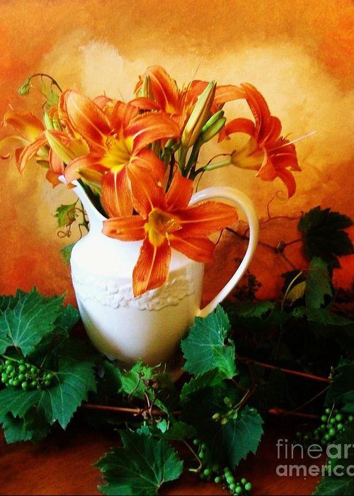 Photo Greeting Card featuring the photograph Tuscany Bouquet by Marsha Heiken