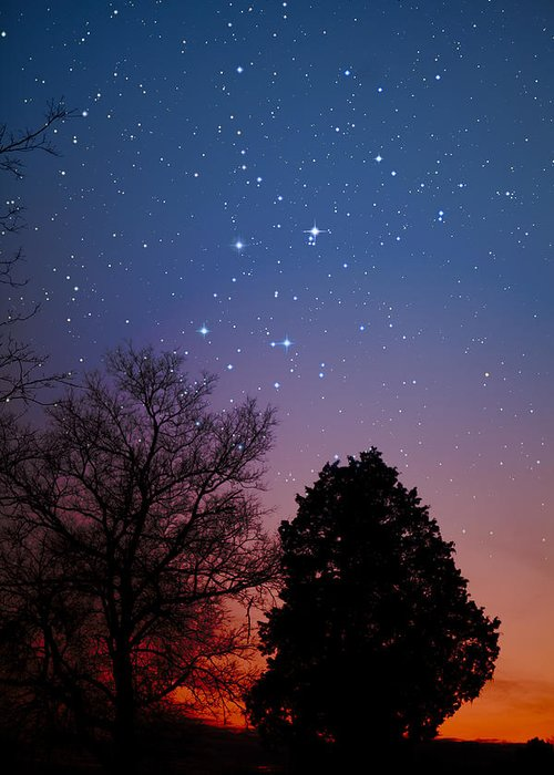 Stars Greeting Card featuring the photograph Twilight Transitions by Charles Warren