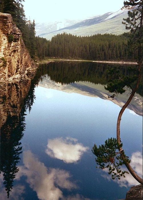 Mountains Greeting Card featuring the photograph Ultimate Reflection by Shirley Sirois