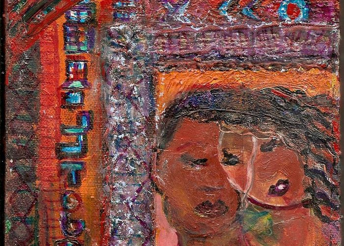 Unity Greeting Card featuring the mixed media Unity by Anne-Elizabeth Whiteway