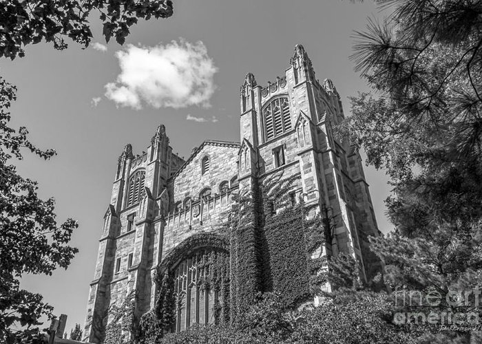 Ann Arbor Greeting Card featuring the photograph University Of Michigan Law Library by University Icons