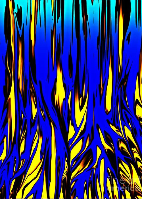 Abstract Greeting Card featuring the digital art Untitled 7-21-09 by David Lane