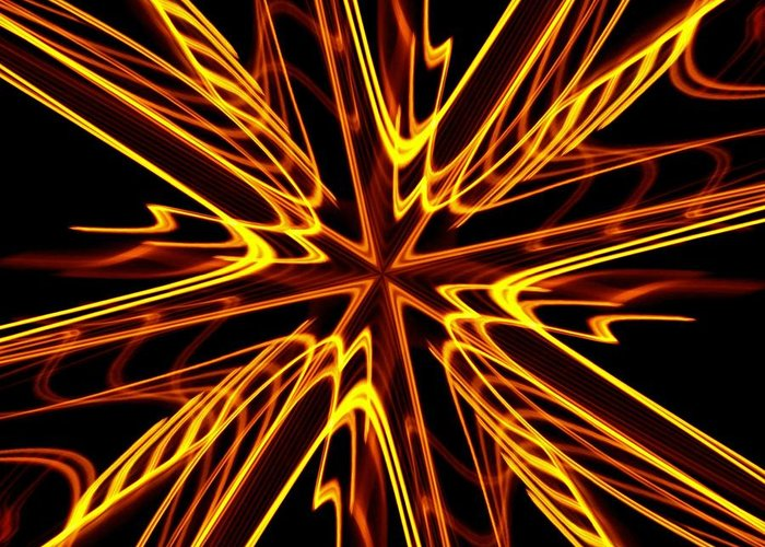 Fractal Greeting Card featuring the photograph Vectoring The Neon by David Dunham