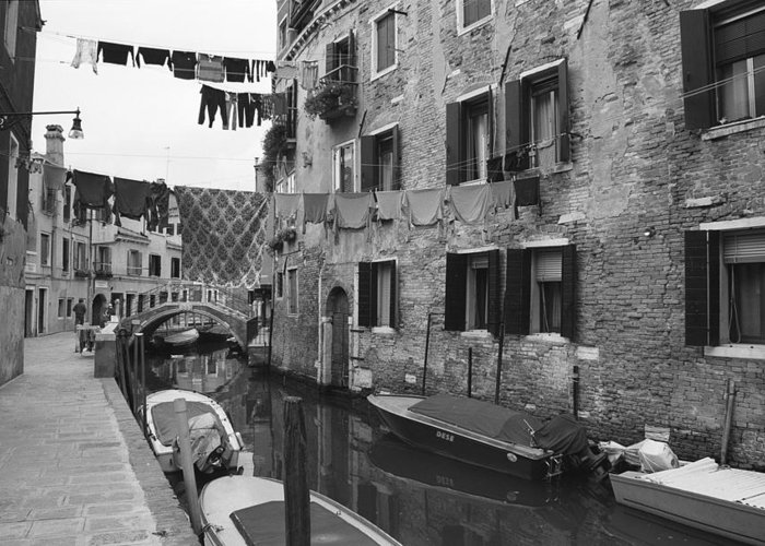 Venice Greeting Card featuring the photograph Venice by Frank Tschakert