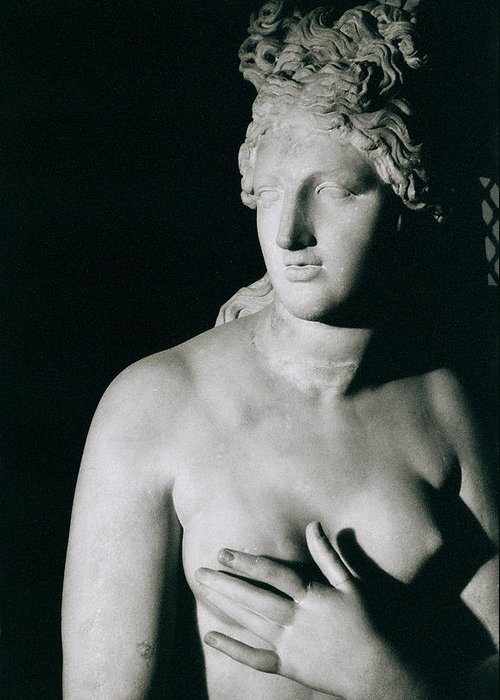 Venus Pudica (marble) Greeting Card featuring the photograph Venus Pudica by Unknown