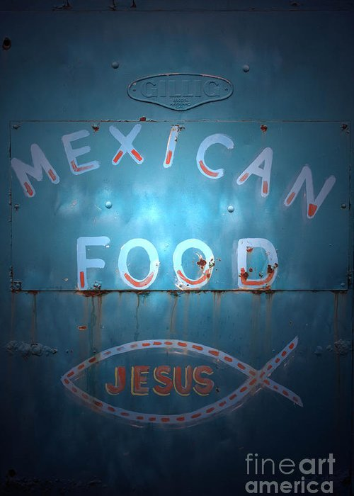 Mexican Food Greeting Card featuring the photograph Vintage Americana No 2 by C E Dyer