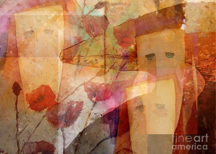Composing Art Greeting Card featuring the painting Vision by Lutz Baar