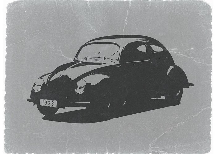 Vw Beetle Greeting Card featuring the photograph Vw Beetle by Naxart Studio