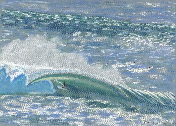 Art Greeting Card featuring the painting Waverider by Patti Bruce - Printscapes