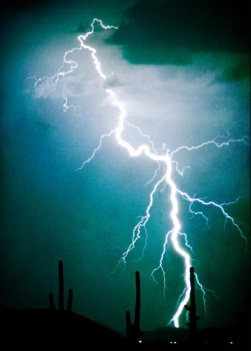 Lightning Greeting Card featuring the photograph Way To Close For Comfort by James BO Insogna