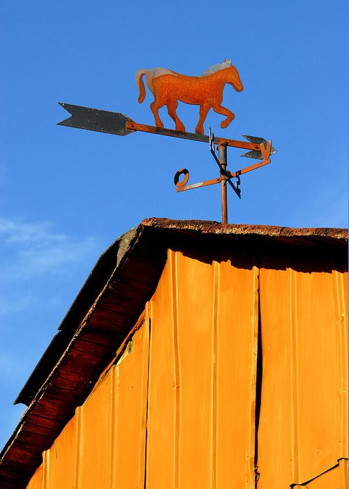 Weathervane Greeting Card featuring the photograph Weathervane by Robert Lacy
