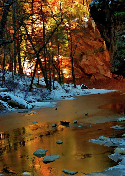 Sedona Greeting Card featuring the photograph West Fork 07-044 by Scott McAllister