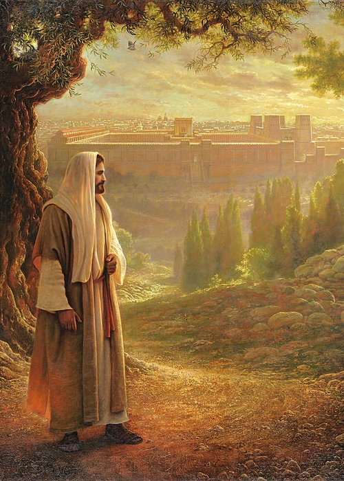 Jesus Greeting Card featuring the painting Wherever He Leads Me by Greg Olsen