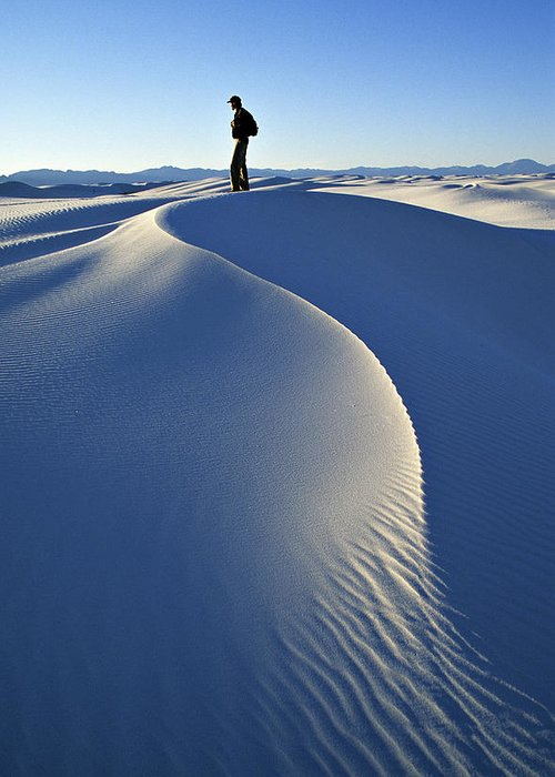 Travel Greeting Card featuring the photograph White Sands National Monument, Nm Usa by Dawn Kish