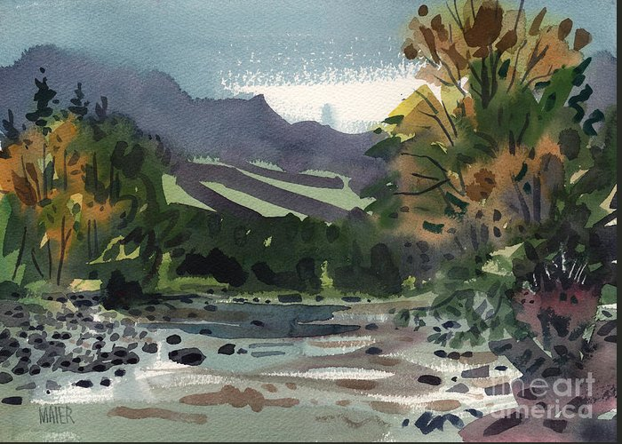 White River Greeting Card featuring the painting White Water On The White River by Donald Maier