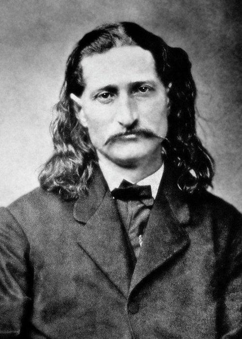 wild Bill Greeting Card featuring the photograph Wild Bill Hickok - American Gunfighter Legend by Daniel Hagerman