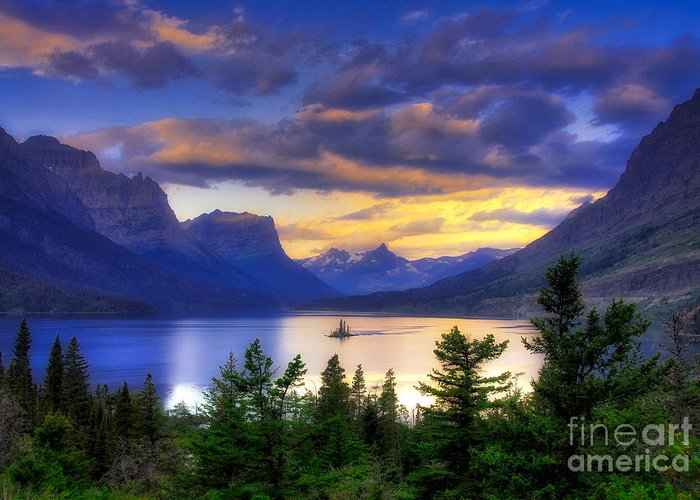 Wild Goose Island Greeting Card featuring the photograph Wild Goose Island by Mel Steinhauer