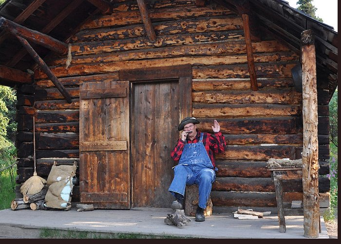 Wilderness Greeting Card featuring the photograph Wilderness Cabin Alaska by Jennifer Crites