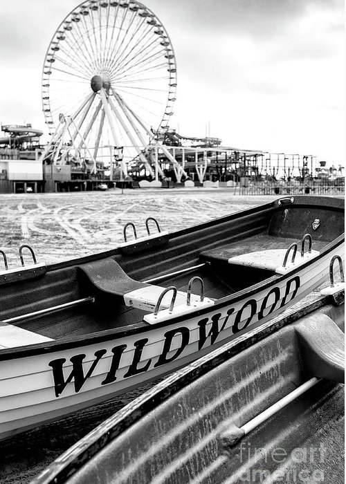 Wildwood Black Greeting Card featuring the photograph Wildwood Black by John Rizzuto