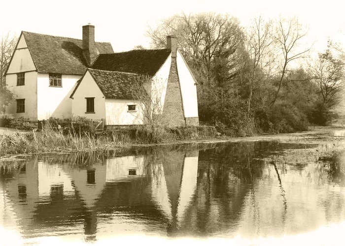 Willy Lots Cottage Greeting Card featuring the photograph Willy Lots Cottage by Terence Davis