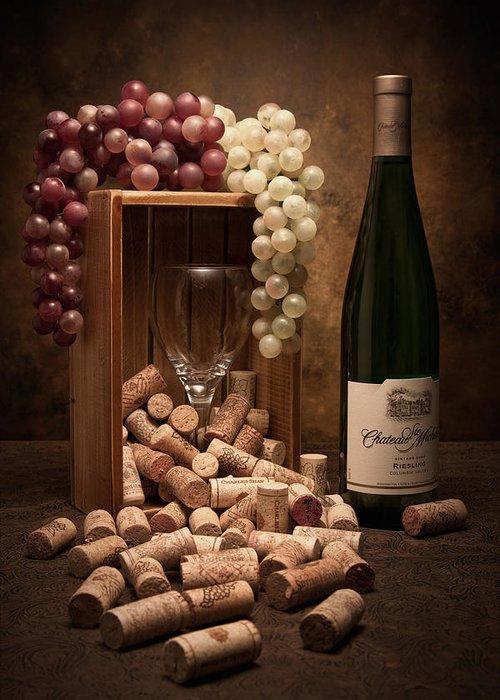 Wine Cork Greeting Card featuring the photograph Wine Corks Still Life II by Tom Mc Nemar