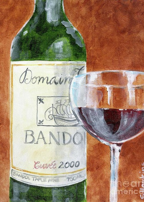 Acrylic Paints Greeting Card featuring the painting Wine With Dinner by Sheryl Heatherly Hawkins