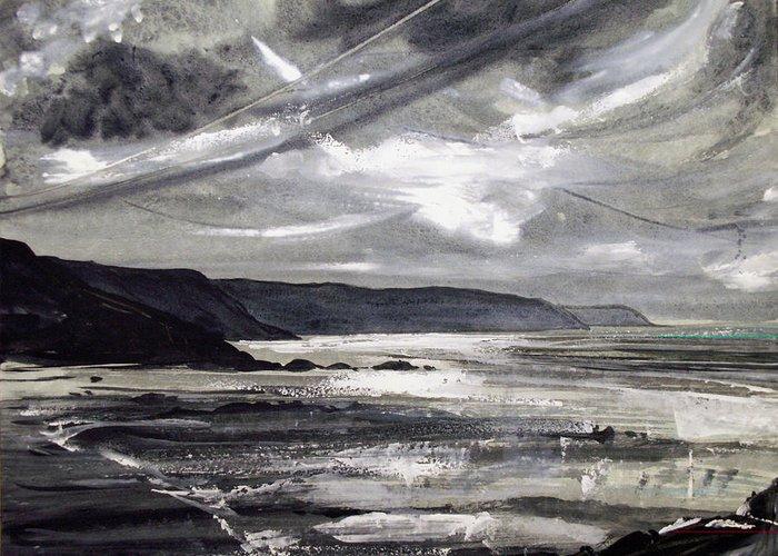 Shoreline Greeting Card featuring the painting Winter Light by Keran Sunaski Gilmore
