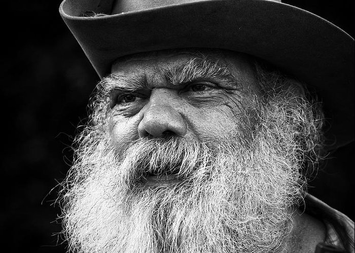 Portrait Greeting Card featuring the photograph Wise Man by Ron McGinnis