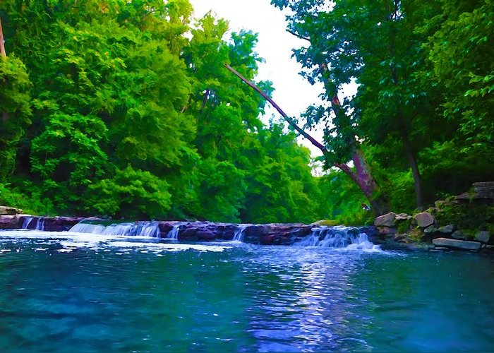 Philadelphia Greeting Card featuring the photograph Wissahickon Waterfall by Bill Cannon