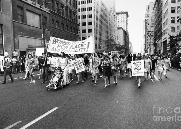 1970 Greeting Card featuring the photograph Womens Rights, 1970 by Granger