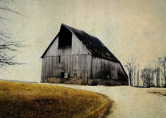 Barn Greeting Card featuring the digital art Work Wanted by Julie Hamilton