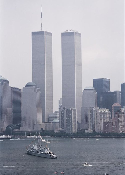 New Greeting Card featuring the photograph World Trade Center And Opsail 2000 July 4th Photo 6 by Sean Gautreaux