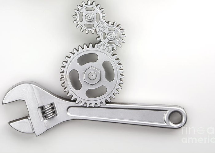 Wrench Greeting Card featuring the photograph Wrench by Blink Images