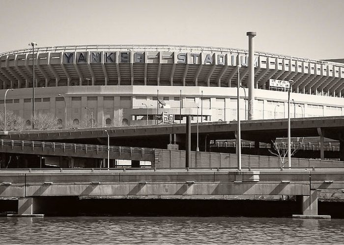 Yankees Greeting Card featuring the photograph Yankee Stadium  1923 - 2008 by Daniel Hagerman