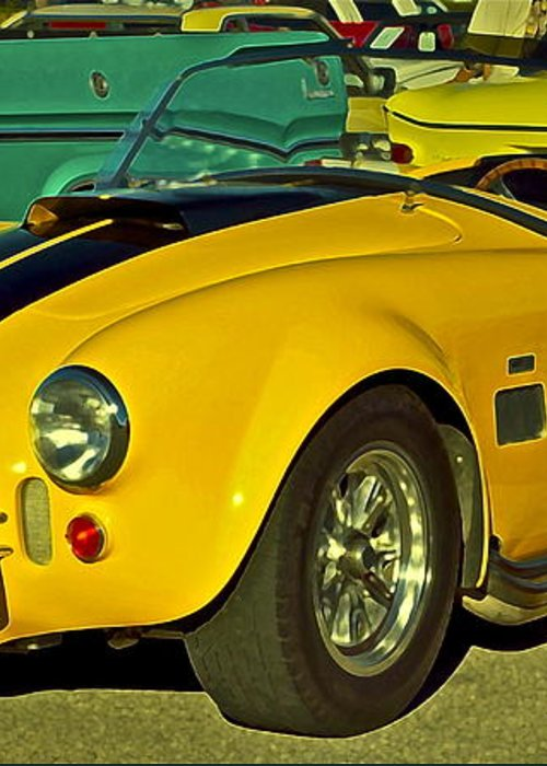 Cobra Greeting Card featuring the photograph Yellow Cobra by Gwyn Newcombe