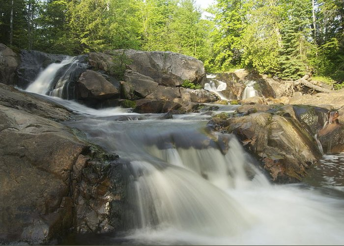 Landscape Greeting Card featuring the photograph Yellow Dog Falls 3 by Michael Peychich