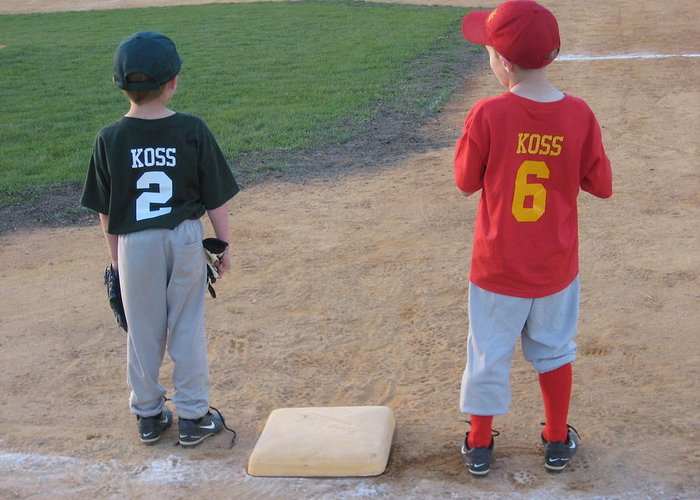 Little League Greeting Card featuring the photograph You Were Out. by Jeffrey Koss