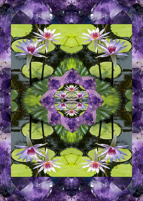 Mandalas Greeting Card featuring the photograph Zen Lilies by Bell And Todd