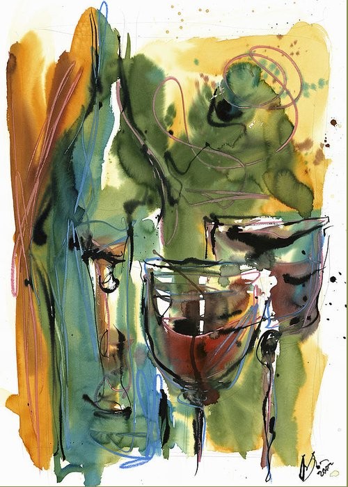 Wine Greeting Card featuring the painting Zin-findel by Robert Joyner