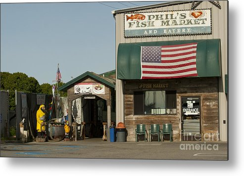 Phils Fish Market Moss Landing Metal Print featuring the photograph Phils Fish Market Moss Landing by Artist and Photographer Laura Wrede